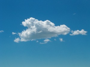 Just thought an actual cloud would be appropriate here