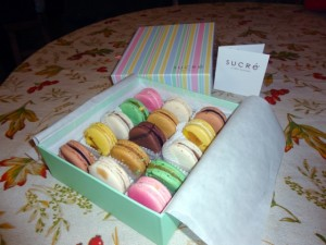 The macarons in all their glory